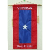Custom Embroidered Nylon Veterans Service Flag