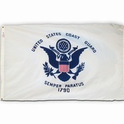US Coast Guard Flag, Nylon 3 X 5