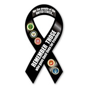 "Remember Those Who Gave Their Lives  8"" Ribbon Magnet"