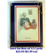 Box of 12 Patriotic Christmas Cards