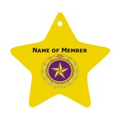Gold Star Ornament w/Custom Text and Selected Branch logo