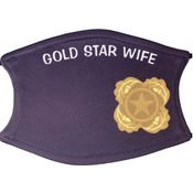 Next of Kin Pin Logo face Covering w/Gold Star Wife