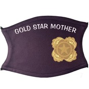 Next of Kin Pin Logo face Covering w/Gold Star Mother