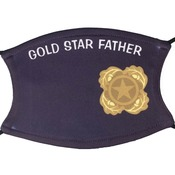 Next of Kin Pin Logo face Covering w/Gold Star Father