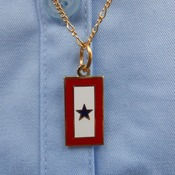 "Service Flag Charm with 24"" Chain"