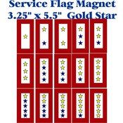 "Gold Star Service Flag Magnet 3.25"" X 5.5"""