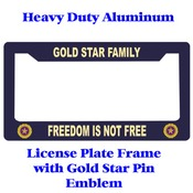 Gold Star Pin Heavy Duty Licence Plate Frame