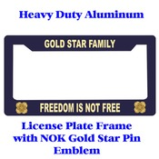 Next of  Kin Gold Star Heavy Duty Licence Plate Frame