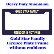 Gold Star Family Heavy Duty Licence Plate Frame