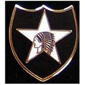2nd Infantry Division Pin 3/4""
