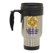 Stainless Steel Travel Mug with Next of Kin Design