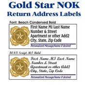 Gold Star NOK Address Labels