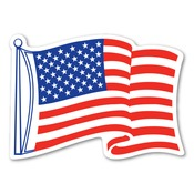"8"" USA Flag Magnet"